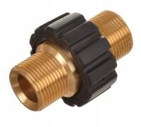 Соединительная муфта для шлангов высокого давления М22 внеш. - М22 внеш. с изоляцией, латунь, R+M 56940