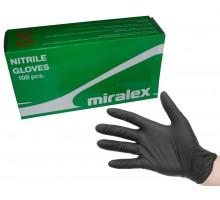 Перчатки нитриловые MIRALEX, черные (упак. 100 шт)
