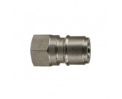 Ниппель ARS 350 bar (короткий) 1/4 внут, нерж. сталь, PA 26.2040.51