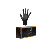 Перчатки нитриловые JetaPRO, черные (упак. 100 шт)