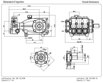 Насос высокого давления NMT1520CWR Car Wash, Hawk 1.099-301.0