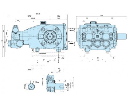 Насос высокого давления Interpump Evolution С2W2013, IPG C2W2013-000