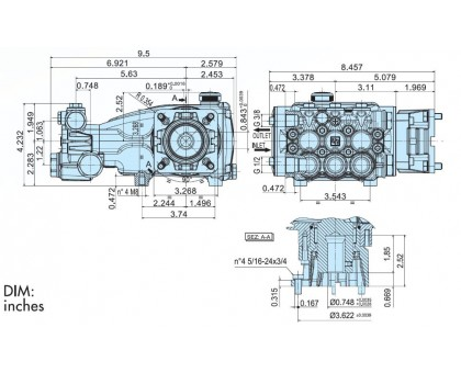 Насос высокого давления Evolution  E2E2113, IPG E2E2113C-050