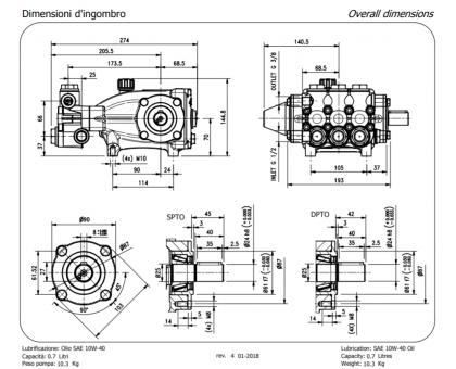 Насос высокого давления NMT2120R, Hawk 1.099-057.0