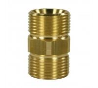 Соединительная муфта для шлангов высокого давления М22 внеш - М22 внеш, латунь, R+M 56920