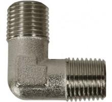 Переходник (угловой) 3/8внеш-3/8внеш, 150bar, никел. латунь, R+M 57270