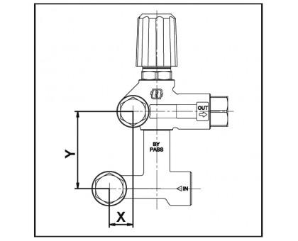 Комплект переходного соединения VRF2 (нижняя часть), Mecline