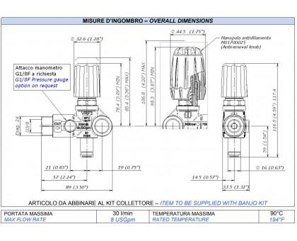 Регулятор давления VRF2 (верхняя часть), Mecline