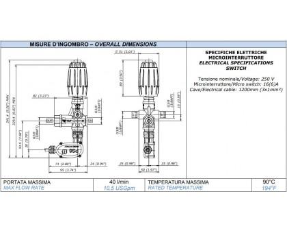 Регулятор высокого давления VRT3-P 250 бар с выключателем давления (синий), Mecline 0215010560