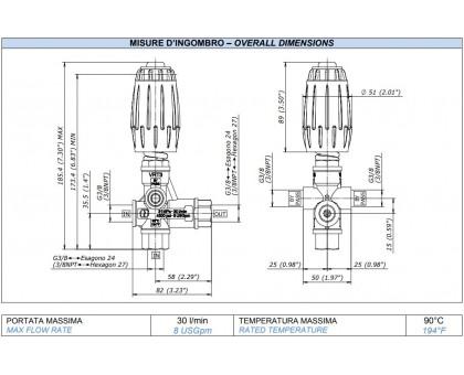 Регулятор высокого давления VRT3, 250 бар (синий), Mecline 0215010250