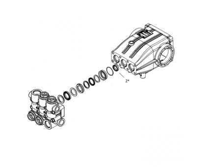 Комплект масляных сальников для серии XLT, NLT, Hawk 1.099-766.0/260003