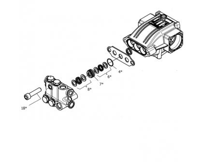 Комплект уплотнений с латунью для серии NHD, NHDP, Hawk 1.905-737.0
