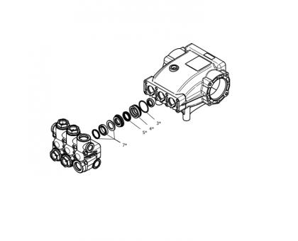 Комплект уплотнений насоса для серии NMT HT, Hawk 1.099-852.0/260121