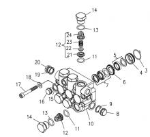 Клапанный блока в сборе для серии NMT HT (для высокой температуры), Hawk 260021