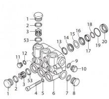 Клапанный блок в сборе для серии RR, Annovi Reverberi 42714