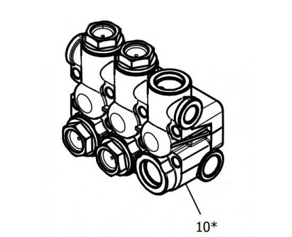 Клапанный блок для серии NMT, NPM, Hawk 9.851-386.0/160234