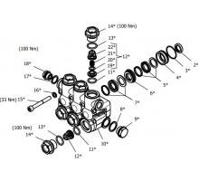 Клапанный блок в сборе для серии NMT RN, Hawk 1.099-758.0/260108