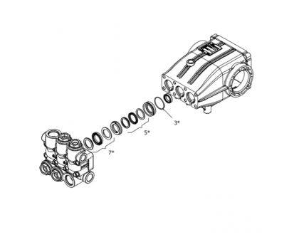 Комплект уплотнений для серии XLT, Hawk 1.099-759.0/260126