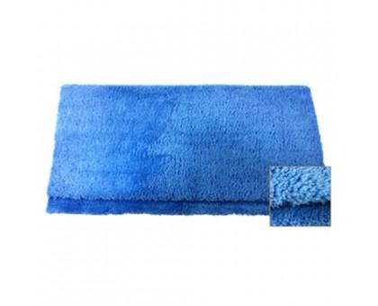 Микрофибра без краев с высоким ворсом, синяя, 40х40 см