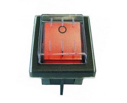 Кнопка выключателя влагозащищенная (красная)